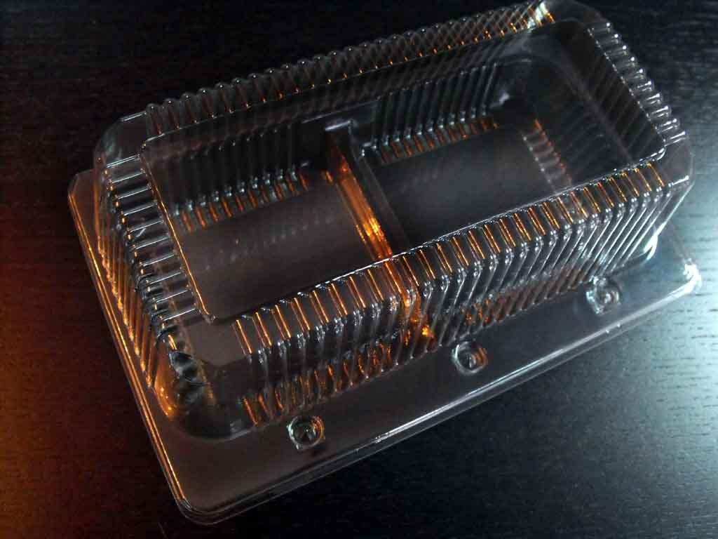 Caserola din plastic cu 2 compartimente pentru amandine (1)