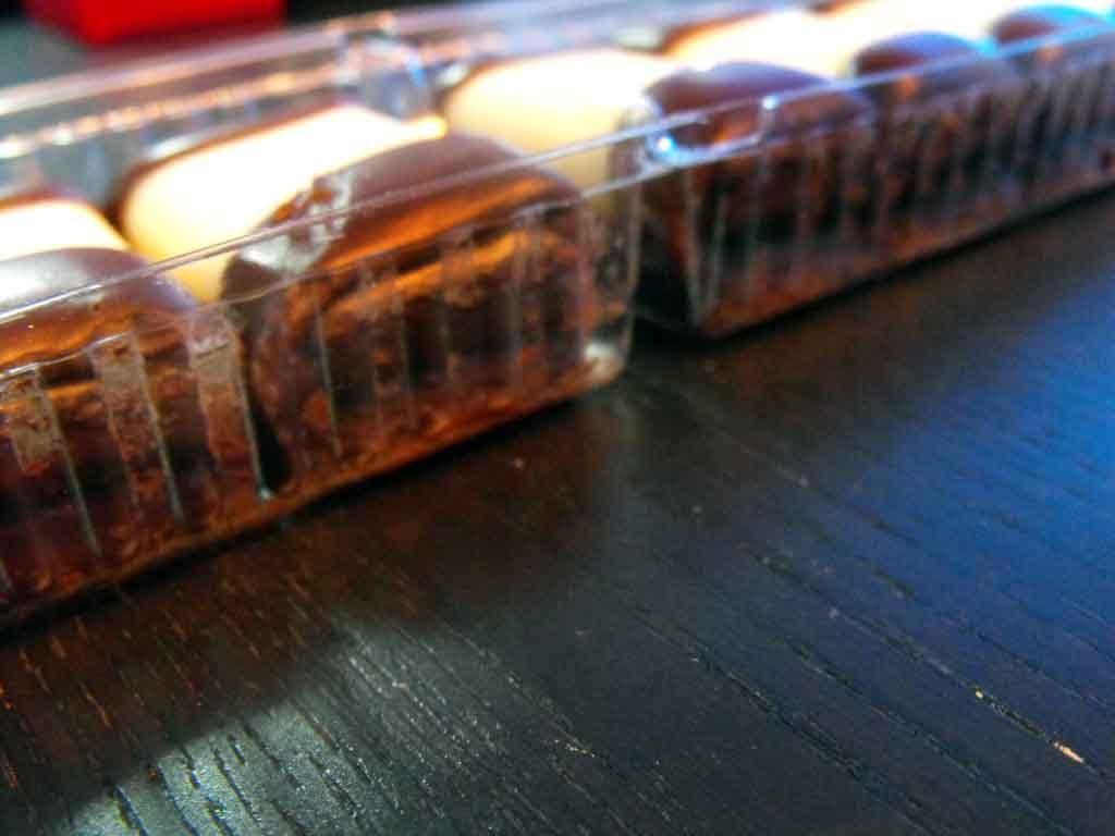 Caserole Transparente Din Plastic Pentru Cu 2 Compartimente Biscuiti