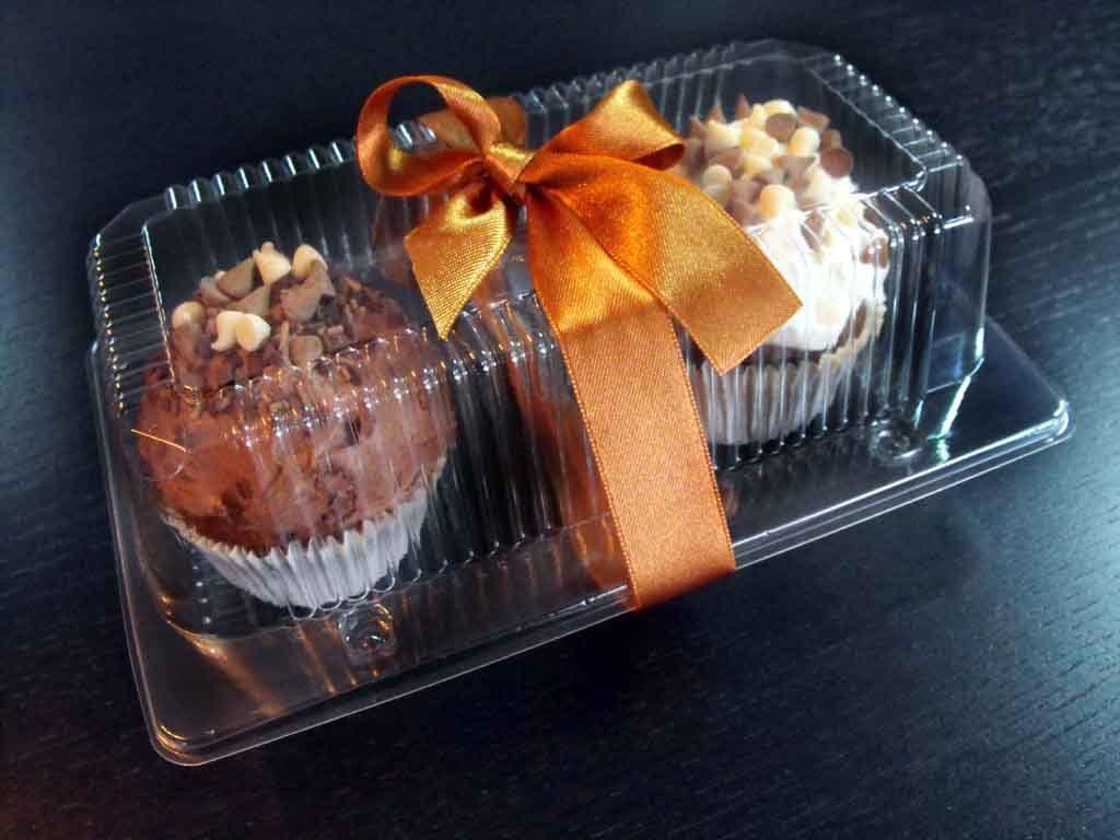 Caserola din plastic cu 2 compartimente pentru cupcakes (1)