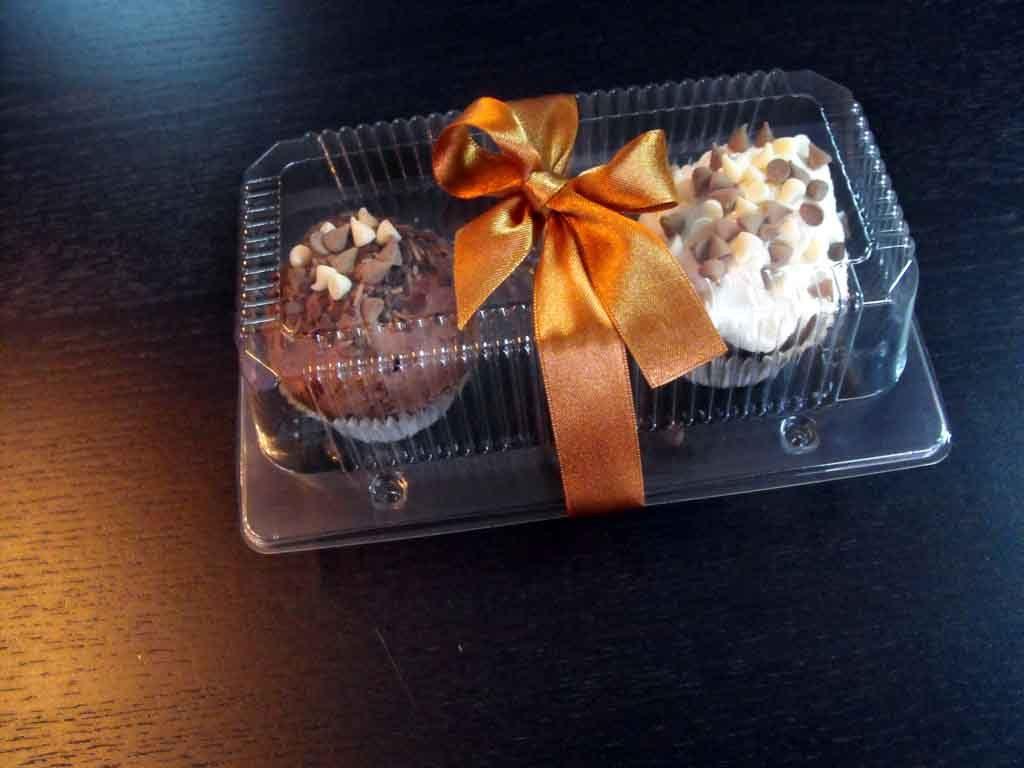 Caserola din plastic cu 2 compartimente pentru cupcakes (2)