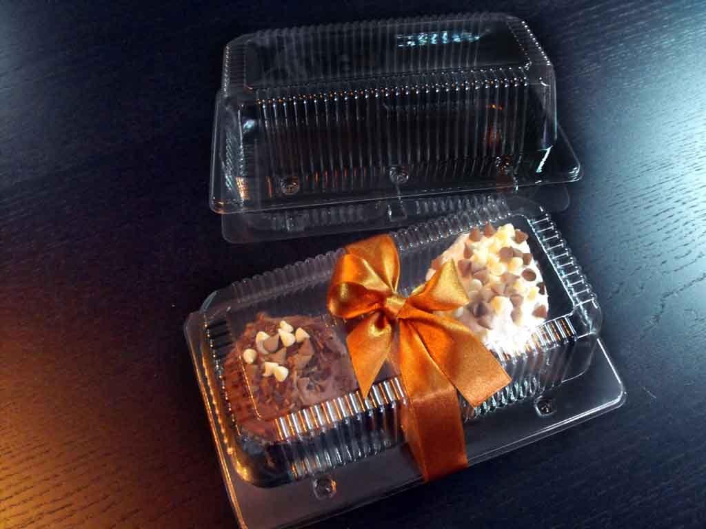 Caserole Transparente Din Plastic Pentru Cu 2 Compartimente Cupcakes