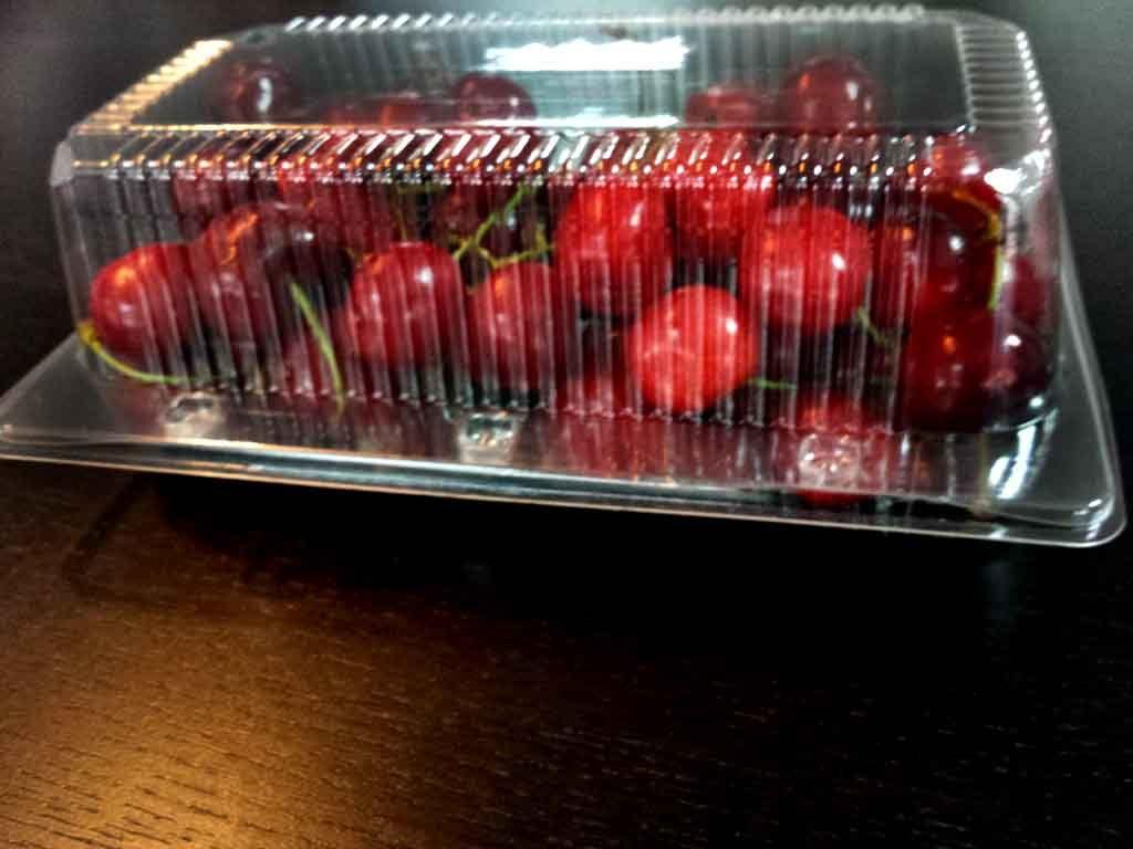 Caserola din plastic cu 2 compartimente pentru fructe (2)