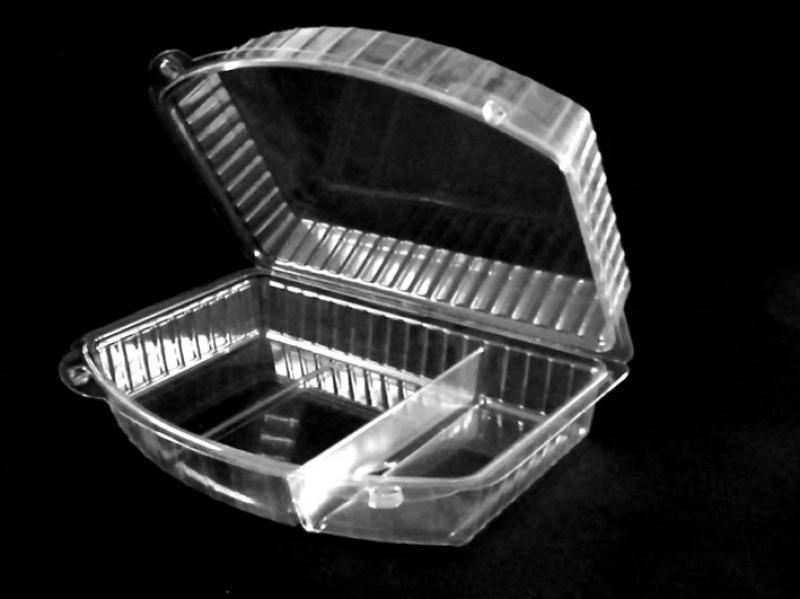Caserola din plastic cu 3 compartimente pentru prajituri (1)