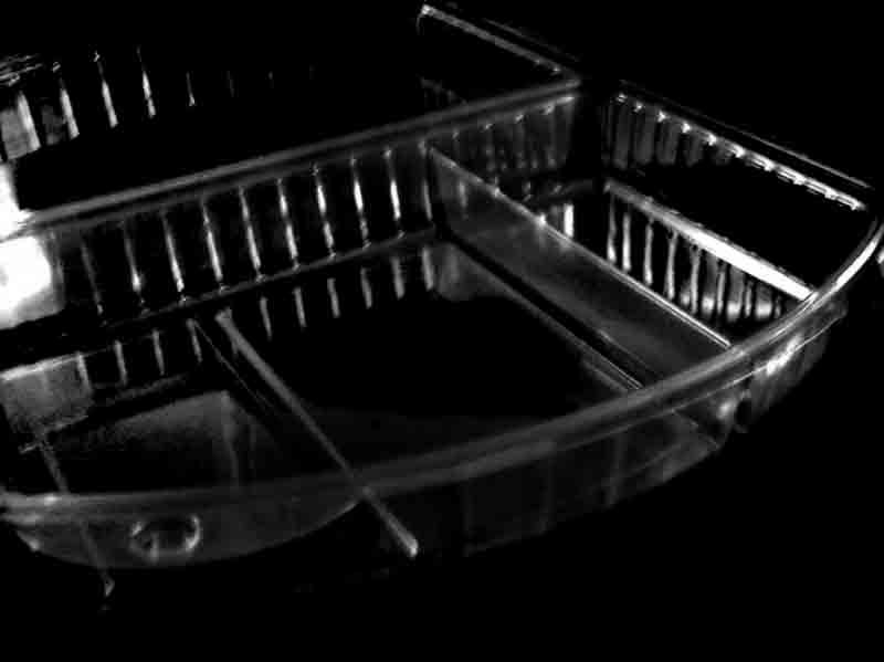 Caserola din plastic cu 3 compartimente pentru prajituri (2)