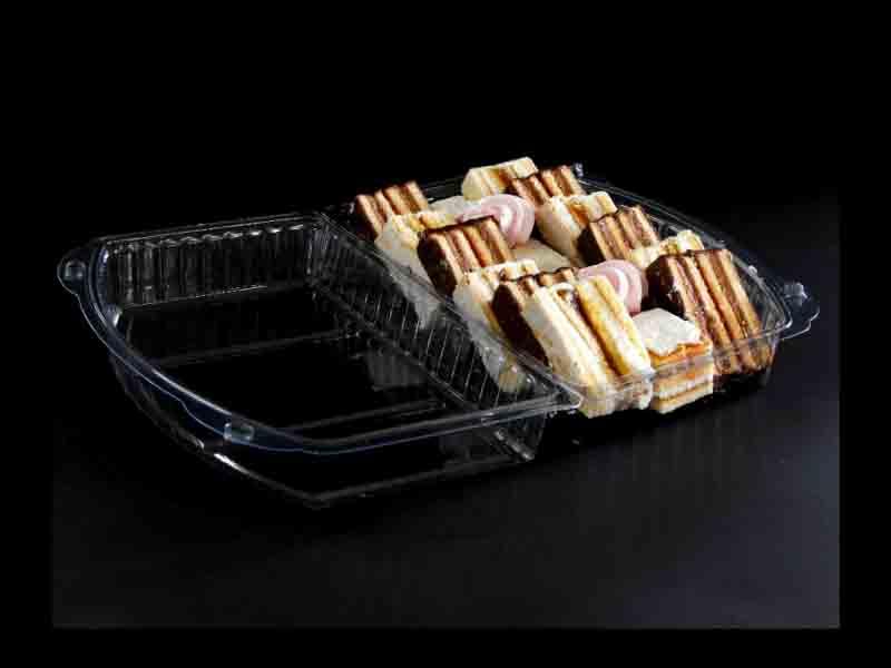 Caserola din plastic cu 3 compartimente pentru prajituri (3)