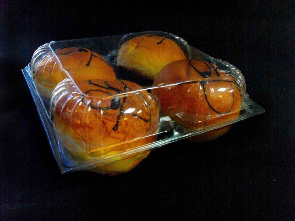 Caserola din plastic pentru 4 gogosi (2)