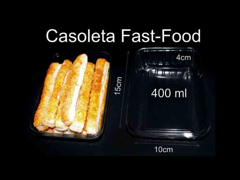 Caserola din plastic pentru fast-food