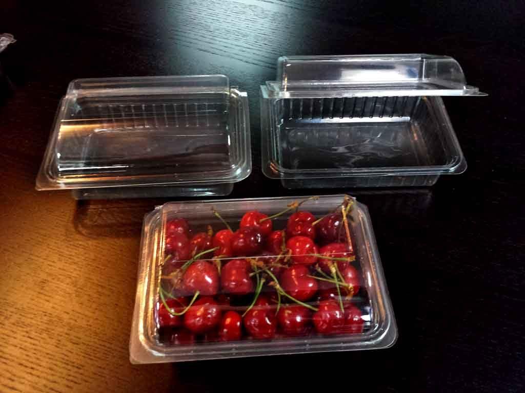 Caserola din plastic pentru fructe - cirese (1)