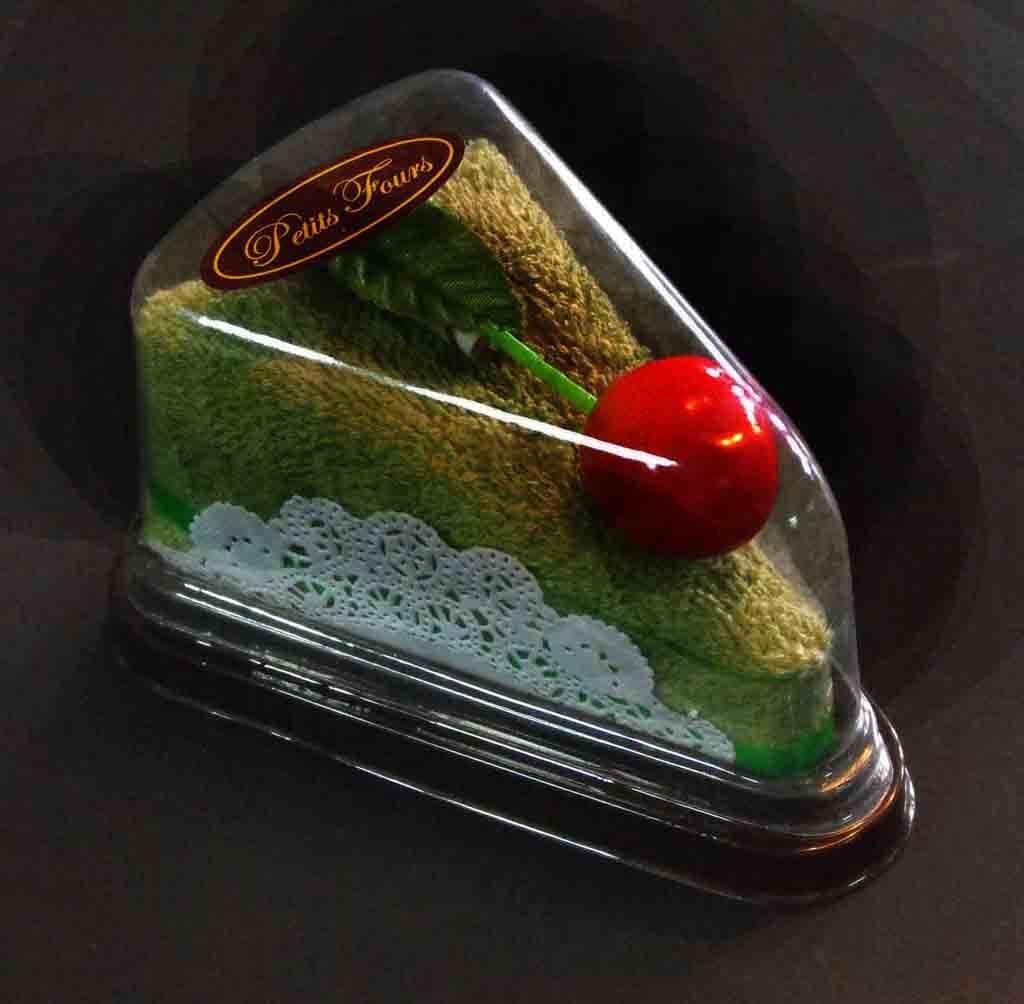 Caserola din plastic pentru o felie de tort (2)