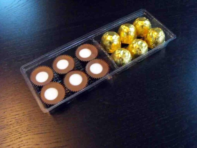 Chese plastic 6 alveole pentru bomboane