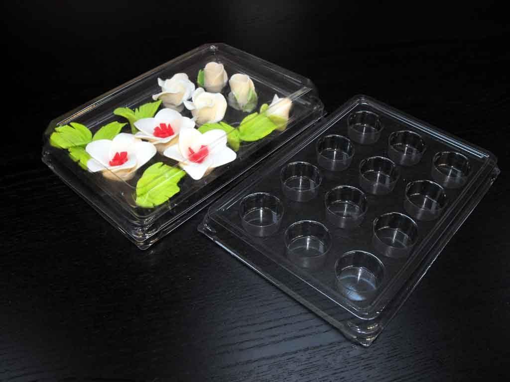 Chese plastic cu 12 alveole pentru ornamente tort (2)