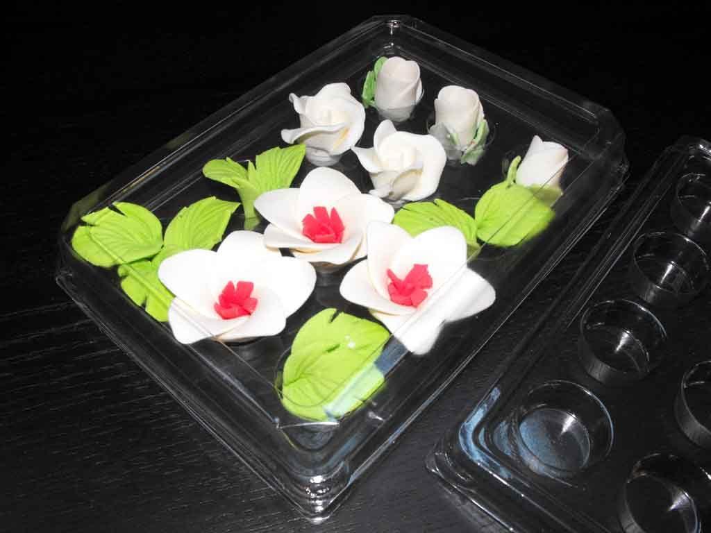 Chese plastic cu 12 alveole pentru ornamente tort (5)