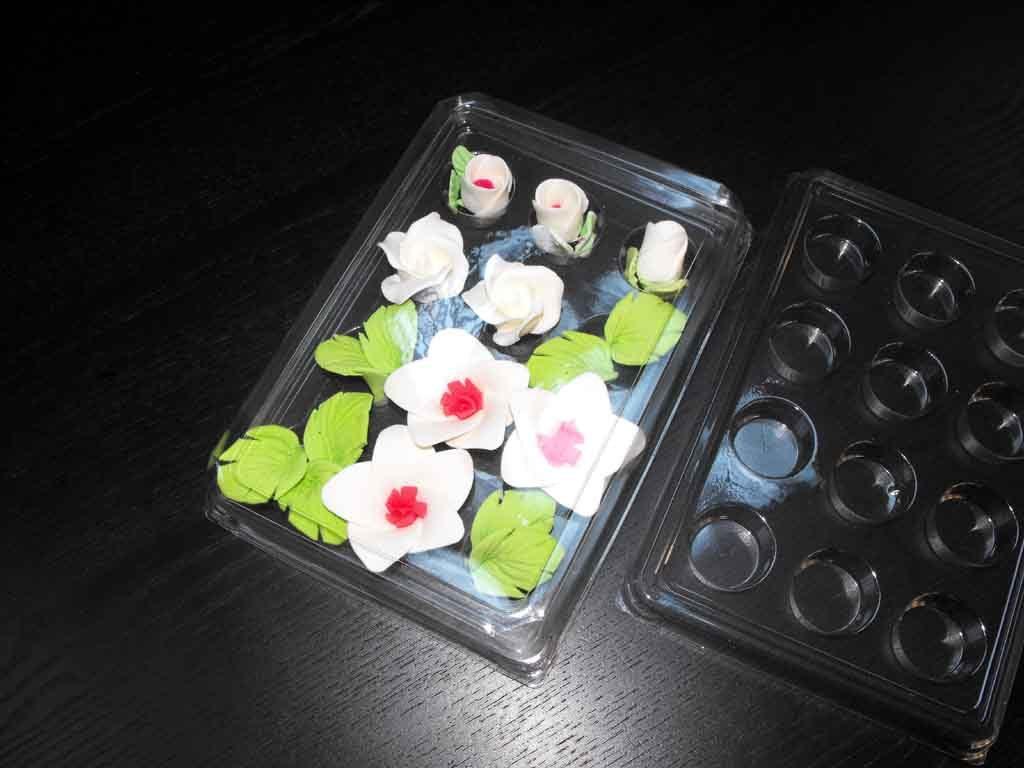 Chese plastic cu 12 alveole pentru ornamente tort (6)