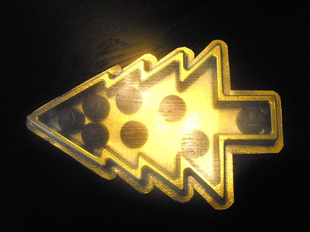 Chese Aurii Din Plastic Pentru Forma Bradut
