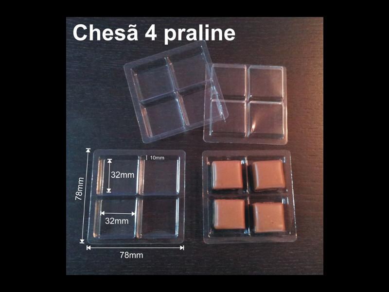 Chese plastic pentru 4 bomboane-floare (2)