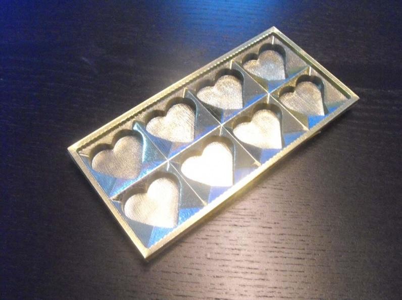 Chese Aurii Din Plastic Pentru Ciocolata Inimioare