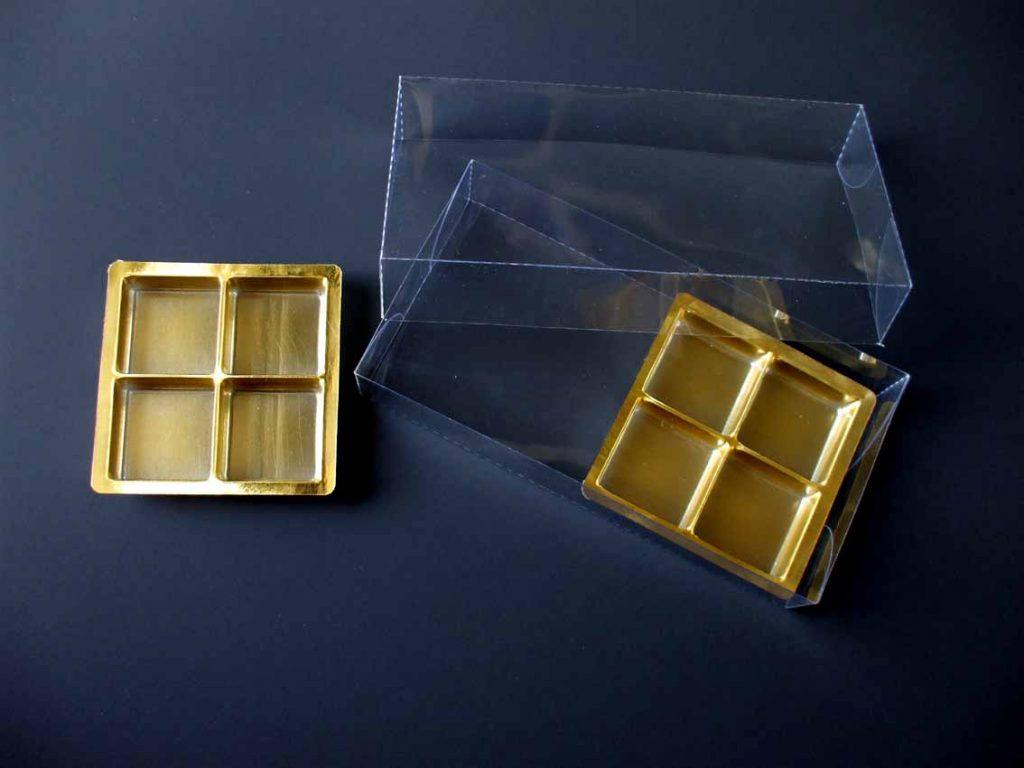 Chese plastic pentru tablete ciocolata aurii (2)
