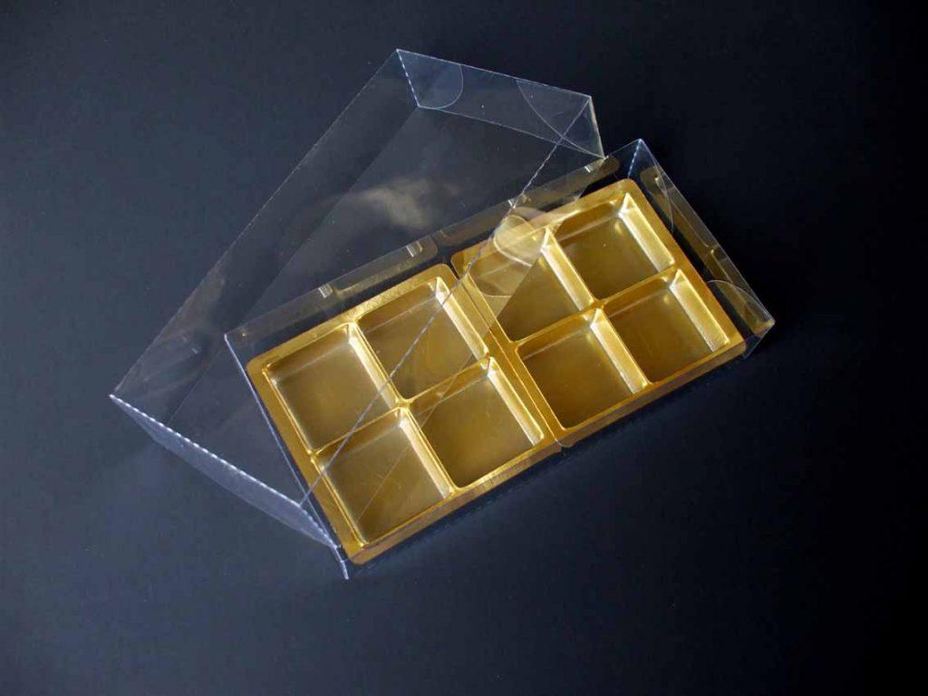 Chese Aurii Din Plastic Pentru Tablete Ciocolata Aurii
