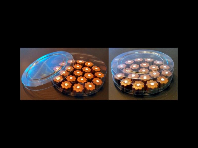 Cilindru din plastic pentru bomboane floare (1)