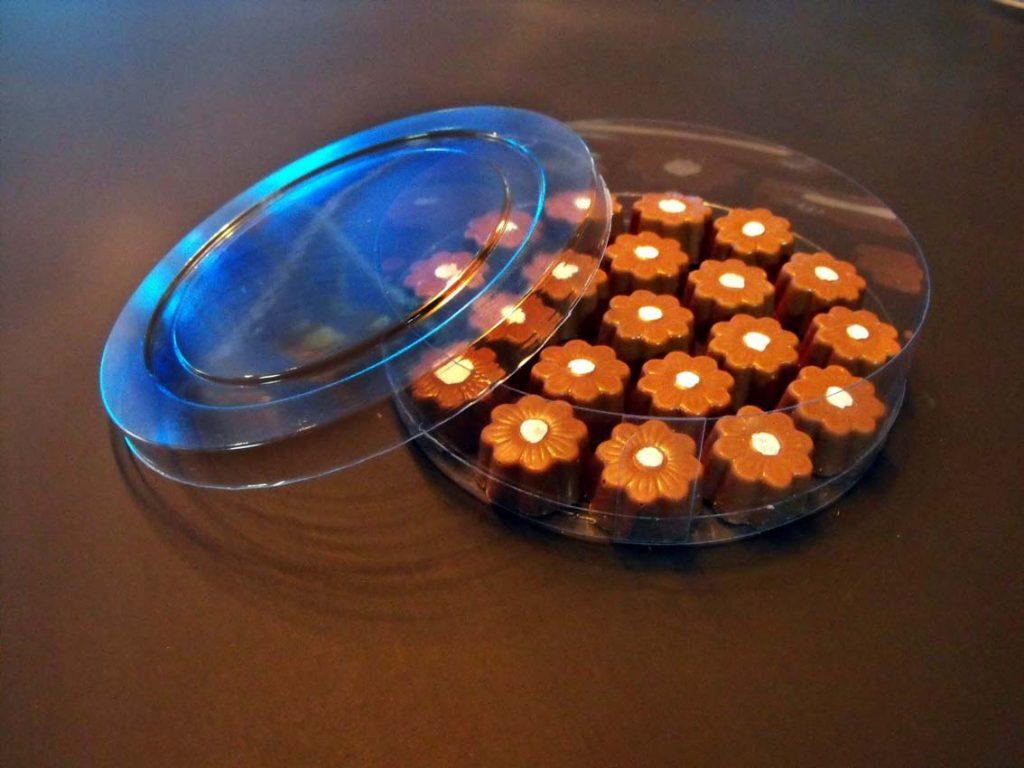 Cilindru din plastic pentru bomboane floare (2)