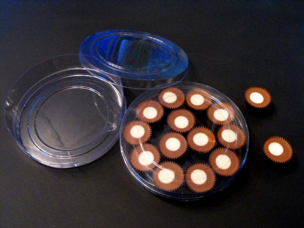 Cilindru din plastic pentru bomboane floare (3)