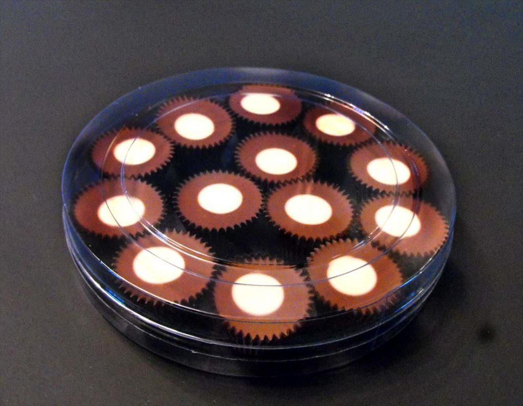 Cilindru din plastic pentru bomboane floare (4)