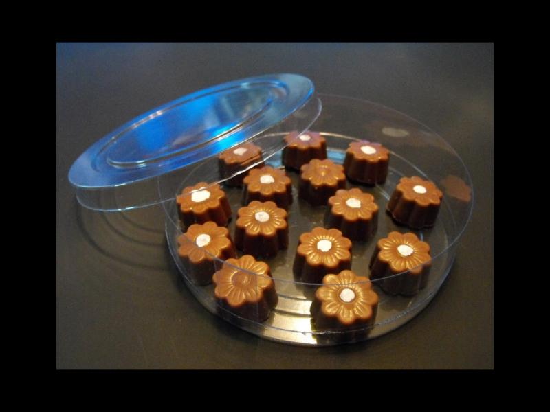 Cilindru din plastic pentru bomboane floare (5)