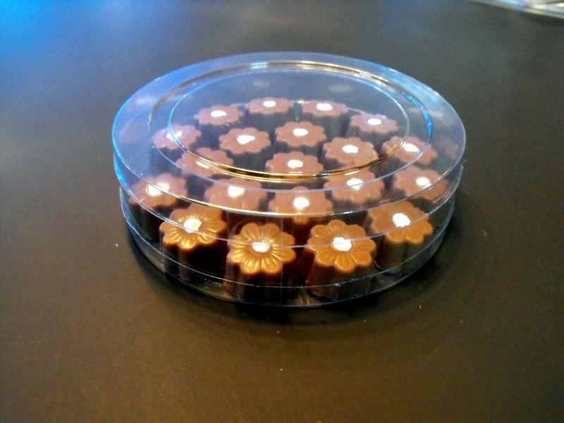Cilindru din plastic pentru bomboane floare (6)