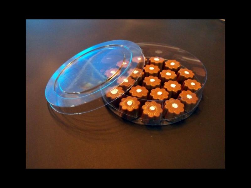Cilindru din plastic pentru bomboane floare (8)