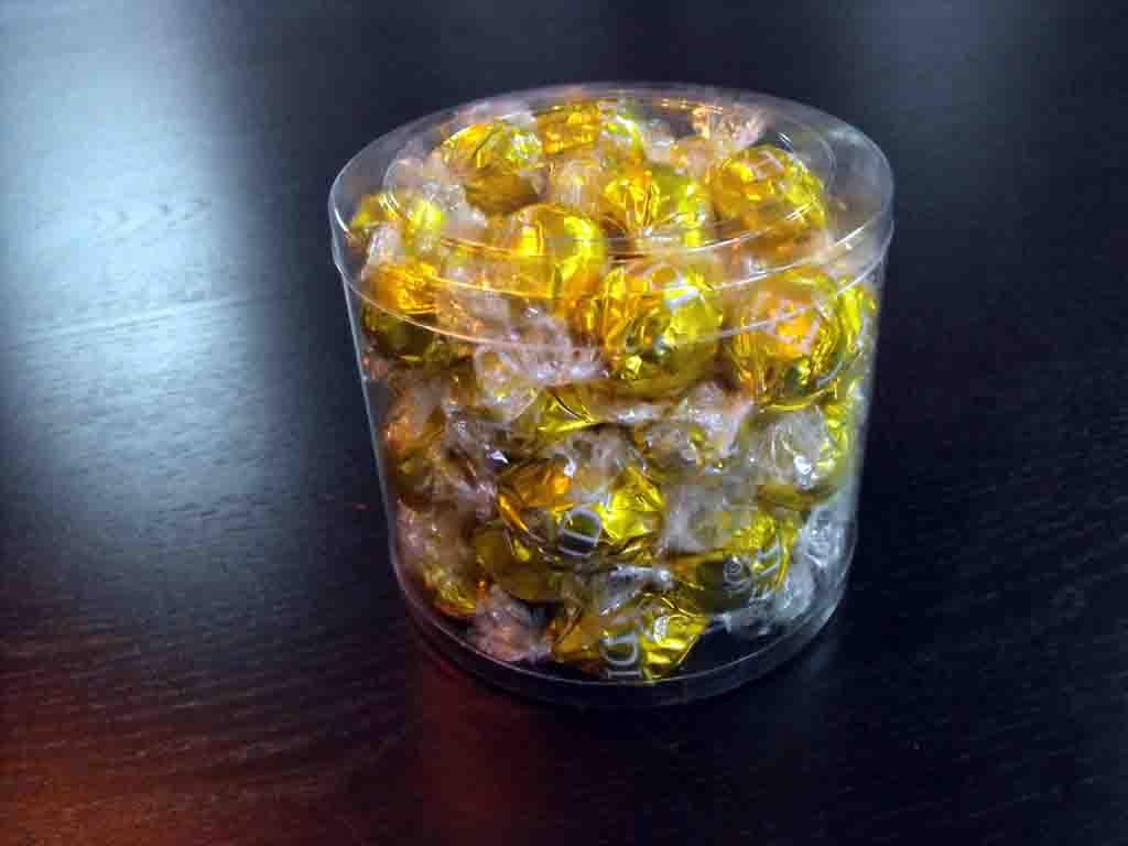 Cilindru din plastic pentru bomboane preambalate (5)