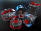 Cilindru plastic pentru cadouri Valentine's Day