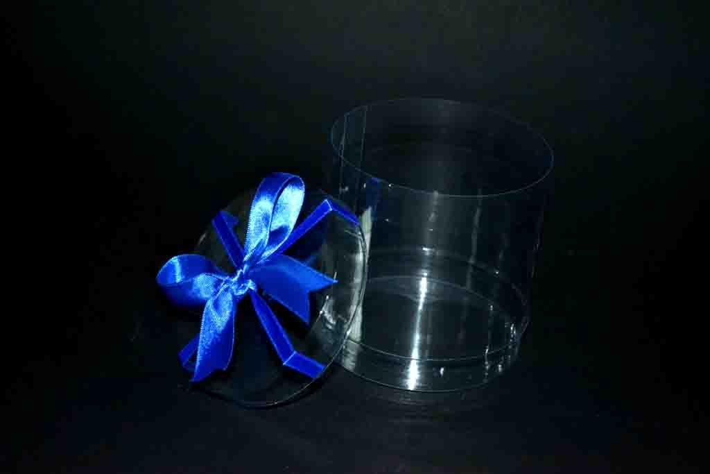 Cilindru plastic pentru cadouri cu funda (3)