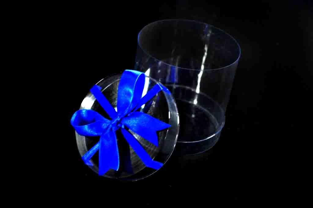 Cilindru plastic pentru cadouri cu funda (4)