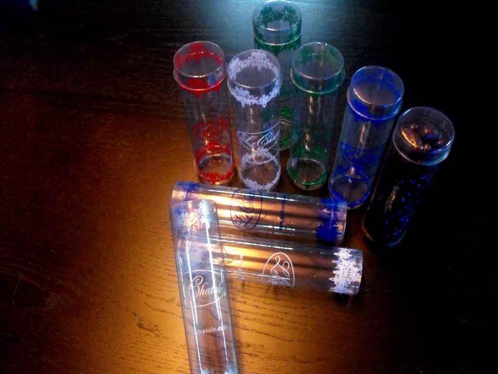 Cilindru plastic pentru cadouri, ornamente etc (2)