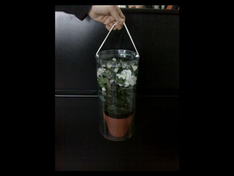 Cilindru plastic pentru ghiveci flori