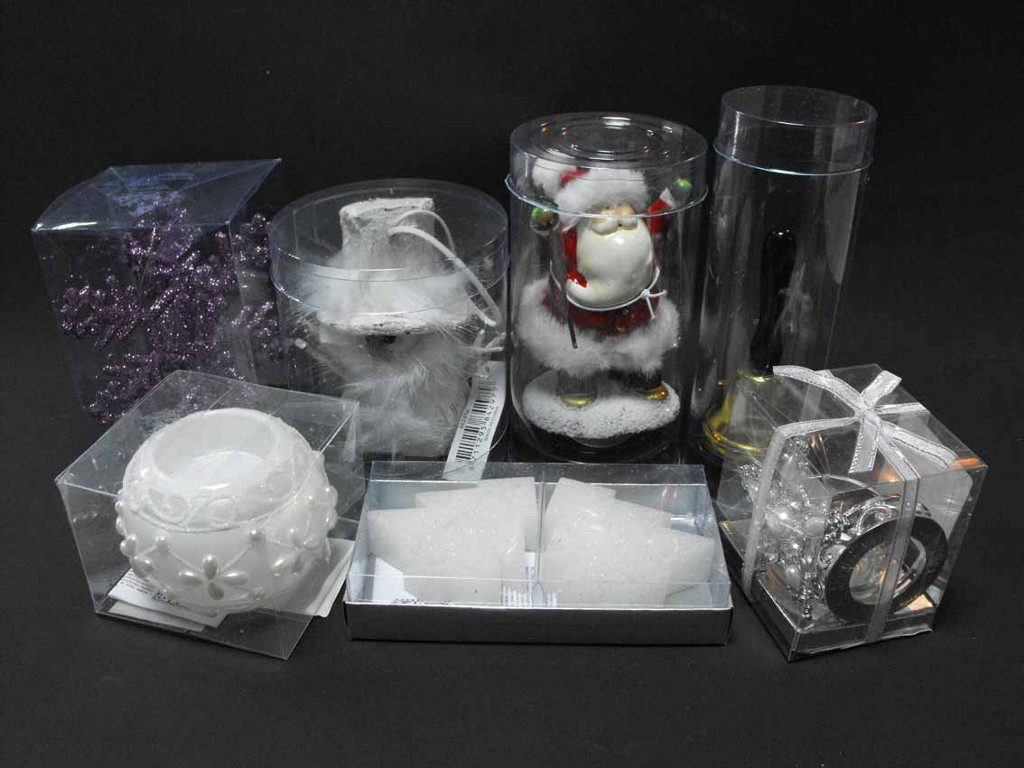Clindru plastic pentru ornamente Mos Craciun