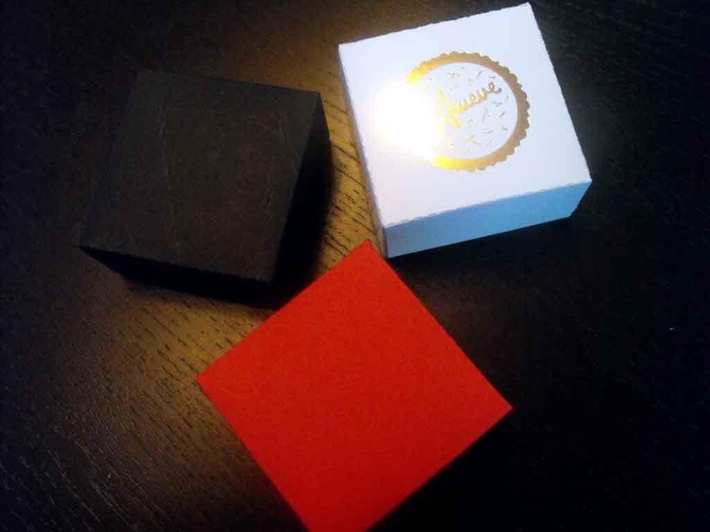 Cutie de carton pentru bijuterii, cercei etc (1)
