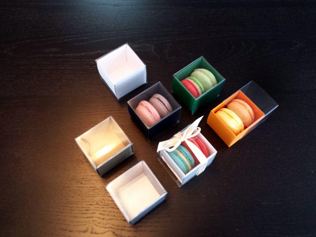Cutii Dure Din Carton Pentru 2 Macarons