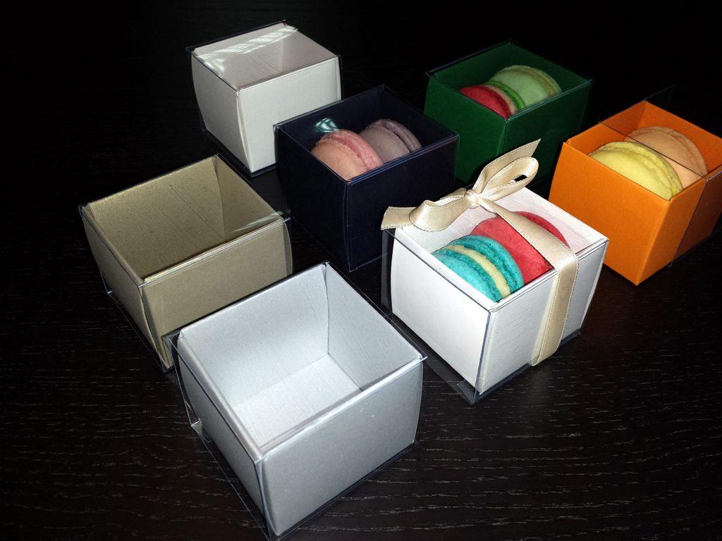 Cutie din carton pentru 2 macarons (2)