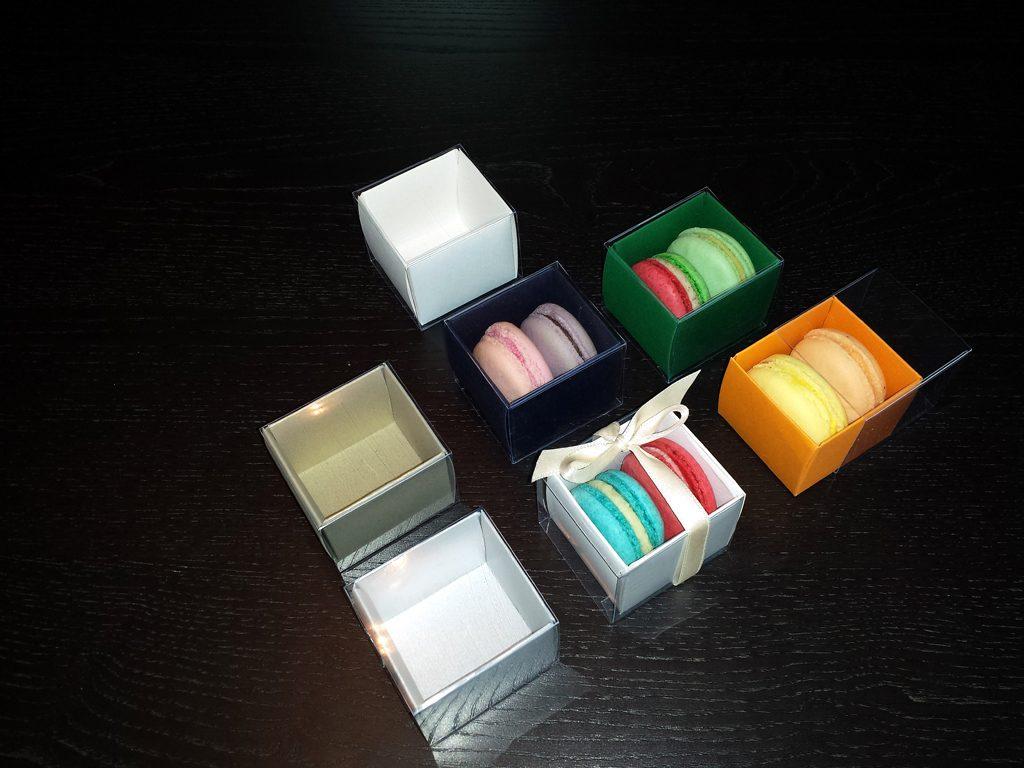 Cutie din carton pentru 2 macarons (8)