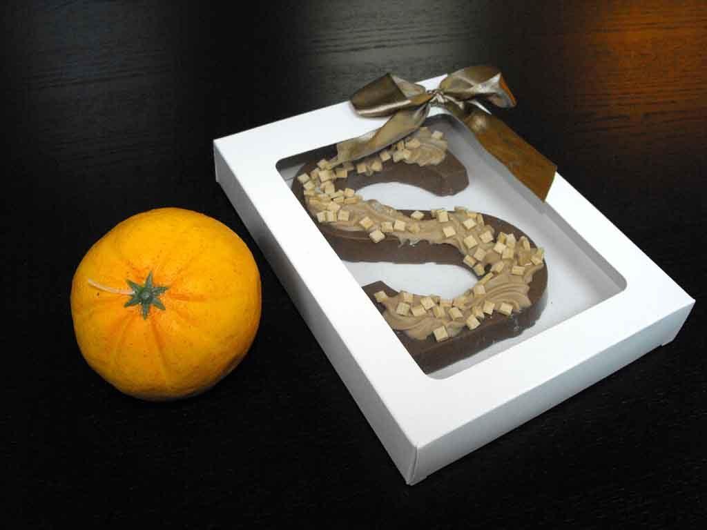 Cutie din carton pentru litera ciocolata (2)