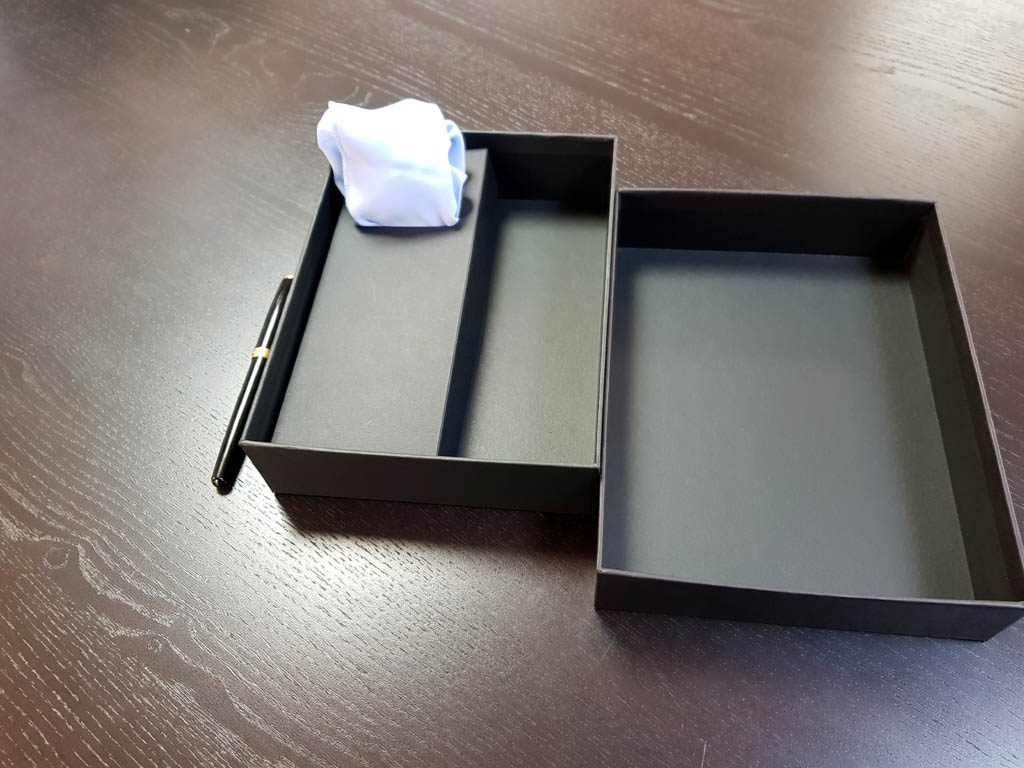 Cutie rigida pentru set cadou cravata, batista si pin (5)