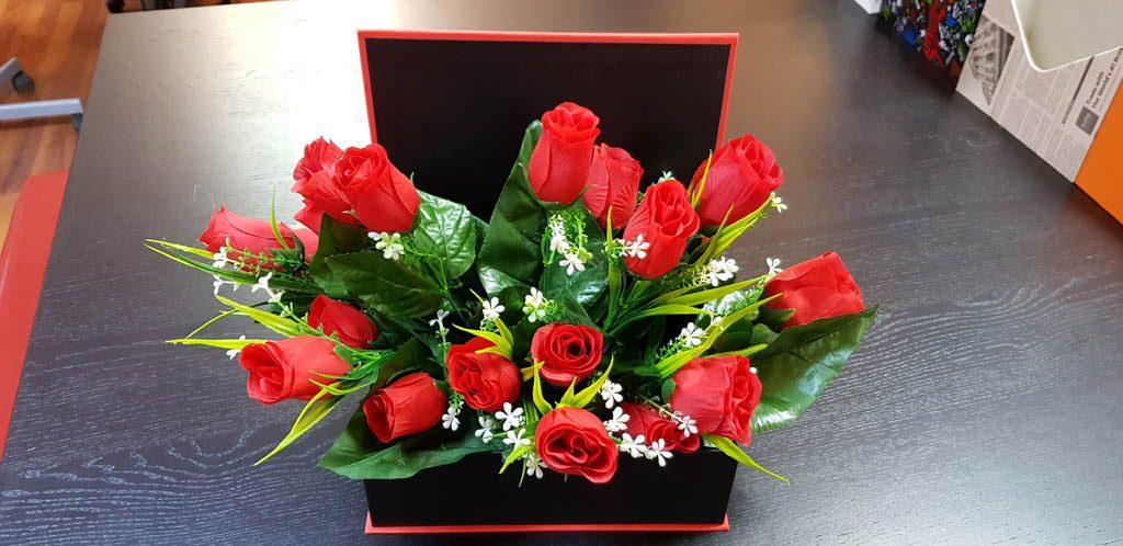 Cutie rigida tip carte pentru flori (29)