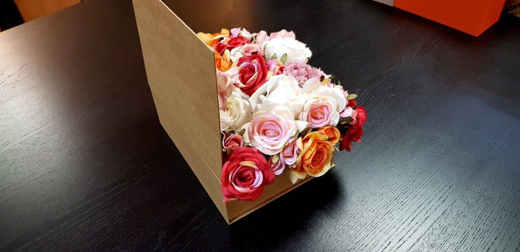 Cutie rigida tip carte pentru flori (7)