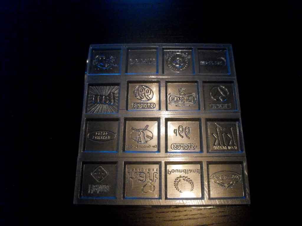 Forme de turnat ciocolata pentru 10 tablete (10)