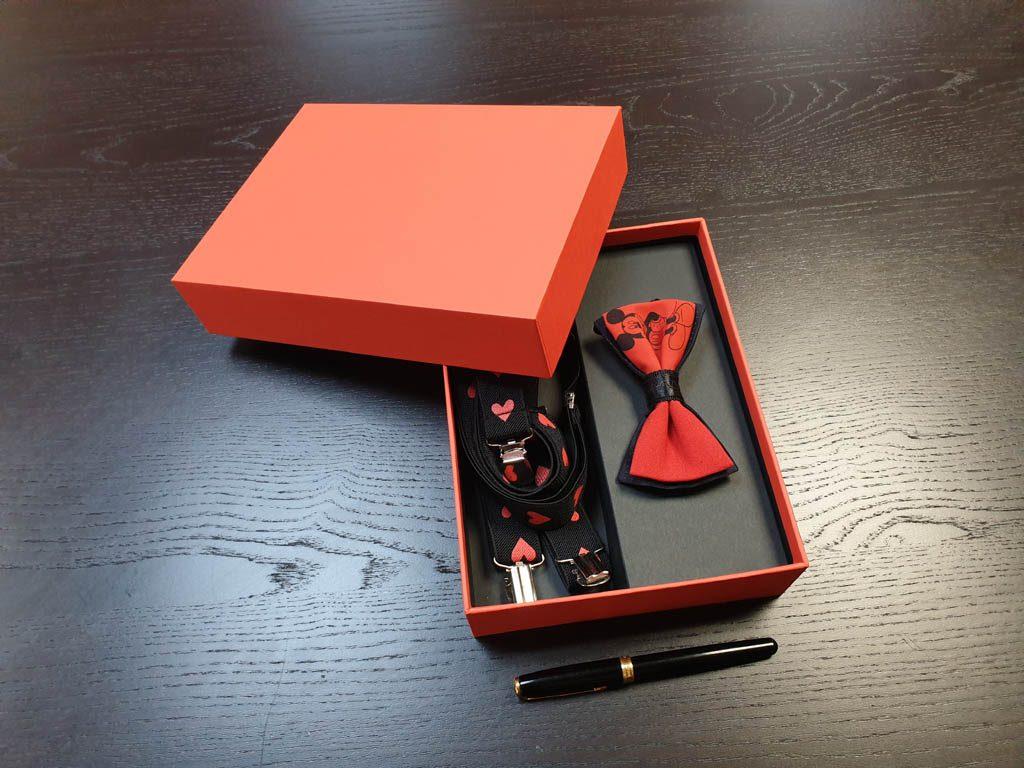 Cutii Rigide Rezistente Din Mucava Cu Magnet Pentru Set Cadou Papion Si Bretele (model 6065-6068) (2)