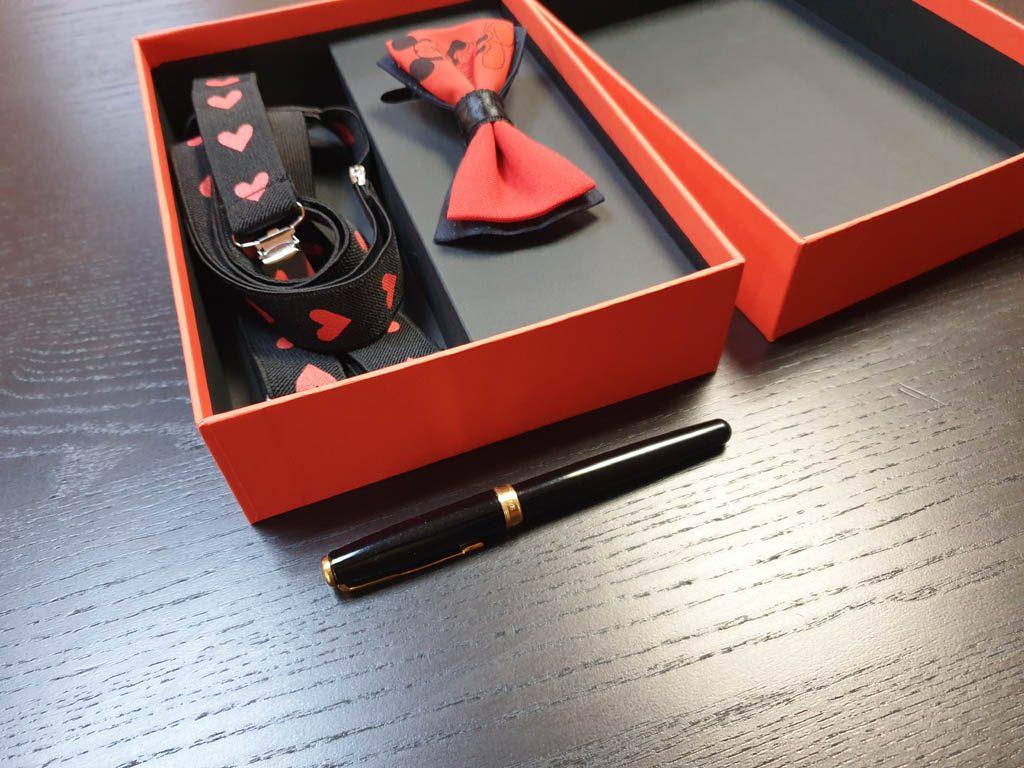 Cutii Rigide Rezistente Din Mucava Cu Magnet Pentru Set Cadou Papion Si Bretele (model 6065-6068) (4)