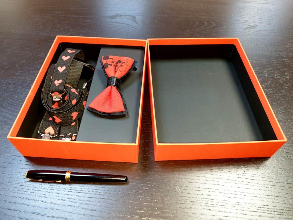 Cutii Rigide Rezistente Din Mucava Cu Magnet Pentru Set Cadou Papion Si Bretele (model 6065-6068) (6)