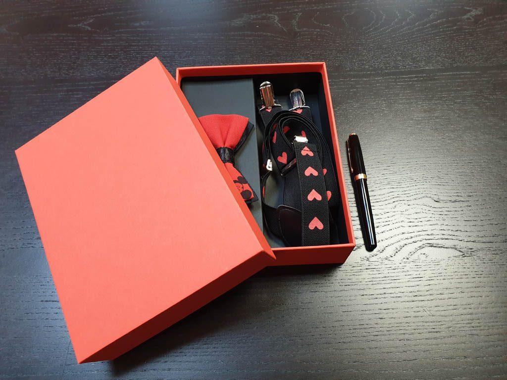 Cutii Rigide Rezistente Din Mucava Cu Magnet Pentru Set Cadou Papion Si Bretele (model 6065-6068) (9)